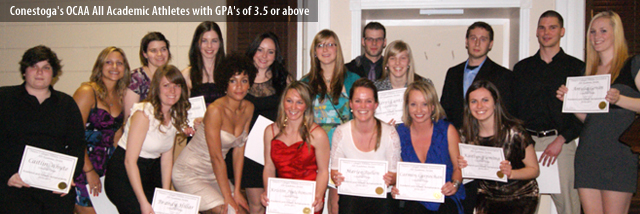 Conestoga's OCAA All Academic Athletes with GPA's of 3.5 or above