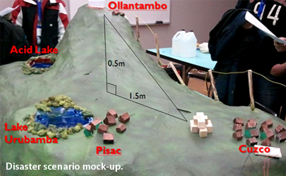 Disaster scenario mock-up