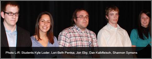 Kyle Loder, Lori-Beth Pentsa, Jon Eby, Dan Kalbfleisch, Shannon Symons